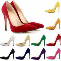 NEW WOMENS LADIES STILETTO HIGH HEEL COURT SHOES SUEDE PLATFORM PARTY SIZE 35-42