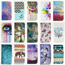 For Apple iPhone Printed Flip Leather Stand Wallet Case Cover Card Slot Magnetic
