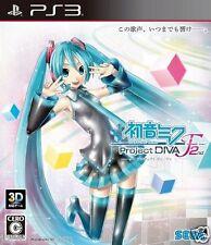 Used PS3 Hatsune Miku Project DIVA-F 2 SONY PLAYSTATION 3 JAPAN JAPANESE IMPORT