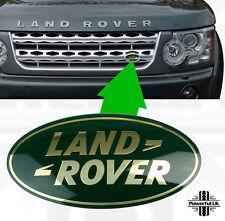 Genuine LAND Rover Discovery 4 VERDE + ORO anteriore griglia Badge ovale di ricambio 3