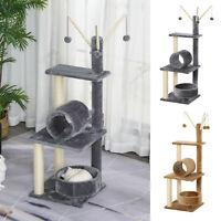 121H cm Plush Cat Tree Play Center w/ Sisal Scratching Posts Perch Perch Condo