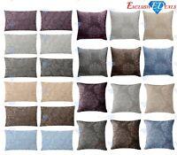 Luxury Jacquard Damask Floral Cushion Covers Woven Jacquard 45x45cm & 30x50cm