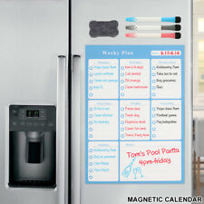 Magnetic MONTHLY Planner Whiteboard Fridge Calendar For Home Office +3pen