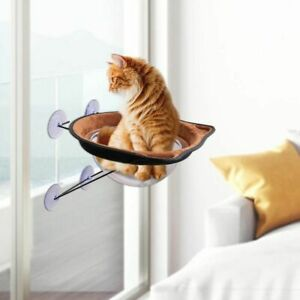 Hammock Mounted Pet Cat Bed Window Perch Cooling Suction Cups Sunbath Dogs House