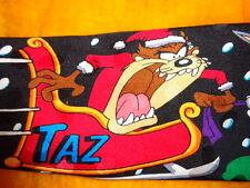 LOONEY TUNES ~ CHRISTMAS XMAS ~ MENS TIE NECKTIE ~ SANTA'S SLED DOGS  !!!