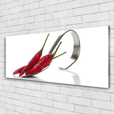 Impression sur verre Image tableaux 125x50 Cuisine Cuillère Chili