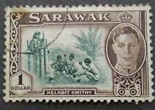 Malaya 1950-1952 Sarawak King George V $1 - 1v Used