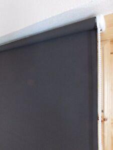 Gardinia Seitenzugrollo dunkelbraun Lichtdurchlässig 52 cm - 162 cm Br 180 cm Ho