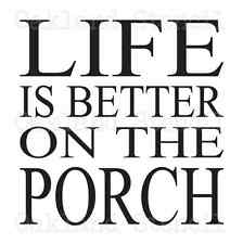 Deck/Patio/Porch Stencil*Life is Better on the*12x12 For Signs Wood Pallets