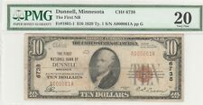 MN 1929 $10 Dunnell, Minnesota ch# 6738 last note was sold for $1500 eBay 2015