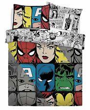 Official Marvel Comic 'Tones' Double Bedding Duvet Quilt Cover Set