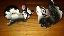 Porcelain Set of 2 Vintage Mini RACUUN Salt & Pepper Shakers Mane in  JAPAN