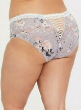 Torrid     Grey Floral Lace Cheekster Panty  NWT  sz 3  plus