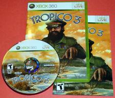 TROPICO 3 (Microsoft Xbox 360) Complete with original case and manual FREE ship