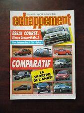 Echappement n° 218 Volvo P 1800 E - Ford Sierra Cosworth Gr.A - Dakar & Peugeot.