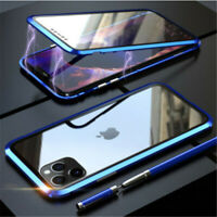 360° FRONT + BACK GLASS Magnetic Phone Case iPhone  11 12 PRO MAX X XS XR 7 8