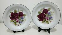 Vintage Hornsea Lancaster Vitramic Floral Plates  Traditional Countryside Rose