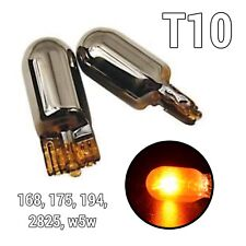 T10 168 194 2825 W5W Parking Marker Light Amber Chrome Stealth Bulb A1 X
