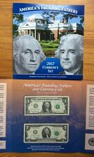 2017 Americas Founding Fathers Set Currency Set $1 $2  From BEP