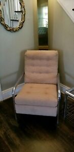 Milo Baughman Chrome Recliner Chair....Mid Century Modern...Great Shape