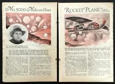 Fritz Von Opel Rocket powered Plane RAK.1 & RAK.2 Car 1930 vintage pictorial