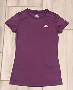 ADIDAS Climate Short Sleeve Shirt Women's Size XS Athletic Fitness