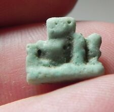 ZURQIEH -AF1601- ANCIENT EGYPT ,  FAIENCE SOW AMULET . 600 - 300 B.C
