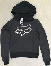 Women's Fox Racing Sz XS Hoody Grey Hooded Sweatshirt