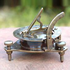 Nautical Brass Handmade Sundial Compass Navigation Marine Compass Table Decor