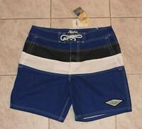 Lucky Brand Hobie Men's Surf Boardshort by Hurley Board Shorts Blue $70 NEW 34