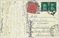 MUSIC : BEETHOVEN -   GERMANY POSTAL HISTORY: stamp on postcard TAXED -  1923