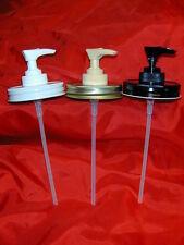 Mason Jar Lotion & Soap Dispenser Converter Lid -Several Colors and Set Choices!