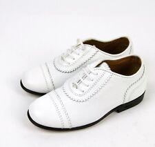 New Authentic Gucci Kids Leather Diamante Dress Oxford, sz 23/US 7,White,285232