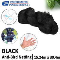 Anti-bird Netting Garden Poultry Net Nylon Catching Mesh 50x100FT Fruit Protect