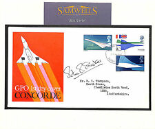 MS1646 1969 GB CONCORDE FDC Autograph 'Peter Baker' Pilot Signed Typed Address