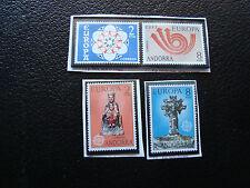 ANDORRE (espagnol)-timbre yvert et tellier n°77 78 81 82  n** (A22)stamp andorra