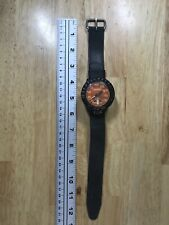 Us Divers Co Aqua Lung Aquarius Depth Gauge Meter Watch Orange Dial 100ft Euc