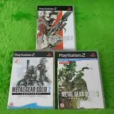 ps2 METAL GEAR SOLID x3 Games 2 Sons Of Liberty +Substance +3 Snake Eater PAL UK