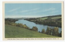 St. John River Valley EDMUNDSTON New Brunswick Canada 1930-40s PECO Postcard 37