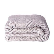 Poliéster Cinza Estampado Pele Artificial Reversível Sherpa Cobertor jogar Soft Luxo