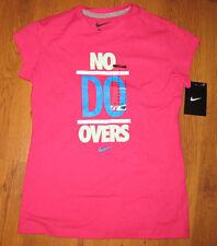 Girl's Nike Tshirt Pink Fuschia No Do Overs M Medium Cap Sleeve New NWT 717971