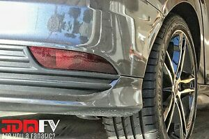 15-18 Ford Focus ST SMOKED Rear Bumper Reflector Overlays Tint Vinyl Film Precut