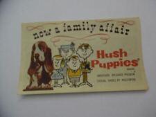 c.1960 Hush Puppies Shoe Brochure Shoebox Advertising Insert Vintage Original VG
