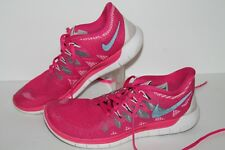 Nike Free 5.0 Running Shoes, #642199-002, Pink/Gray/White, Womens US 7.5