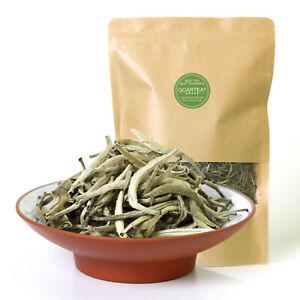 GOARTEA Premium Silver Needle White Tea Bai hao Yin zhen Chinese Tips Loose Tea