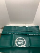 VINTAGE QUAKER STATE OIL ADVERTISING MECHANIC'S PADDED FENDER COVER