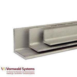 VA Winkel-Stahl Edelstahl V2A Winkeleisen Profil wählbar bis 200 cm / 2 Meter A2