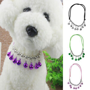 Small Adjustable Kitten Necktie Collar Bell Cat Dog Small Pet Puppy Necklaces