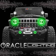 2007-2017 Jeep Wrangler JK ORACLE LED Headlight+Fog Light Halo Kit Combo-Green