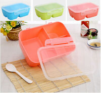Children Student Japanese Microwave Oven Plastic Bento Lunch Box Food Container